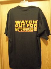 Watch out for Motorcycles men's graphic t shirt XL black