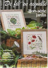 De fil en aiguille N°2 HS point croix Jardin Bestseller Véronique Enginger RARE