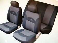 VOLKSWAGEN VW LUPO POLO  Car Seat Covers Full Set Black/Grey Washable 14002