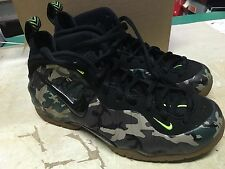 USED MENS NIKE AIR FOAMPOSITE PRO PREMIUM LE 587547 300 CAMO  BB Sz 9.5 NO BOX
