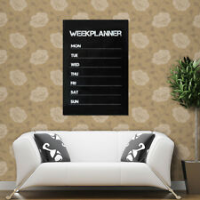 Weekly Planning  Planner Memo Chalk board Design Blackboard Wall Sticker