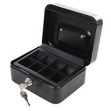 METAL KEYED CASH & VALUABLES SAFE BOX 165 x 128 x 80MM MONEY PIGGY BANK
