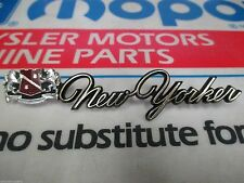 Mopar NOS 1972 Chrysler New Yorker Roof Side Extension Name Plate Emblem 3506576