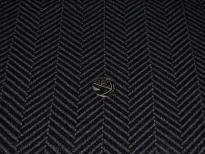 HEAVY LARGE CHEVRON  SUITING-BLACK- DRESS/JACKET FABRIC -FREE P+P