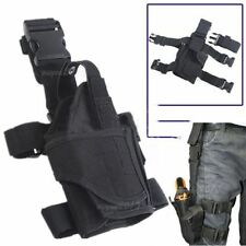 Adjustable Tactical Pistol & Gun Drop Leg Thigh Holster w/ Mag Pouch Right Hand