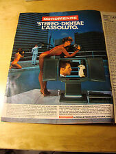 PUBBLICITA' ADVERTISING WERBUNG 1986 NORDMENDE TV COLOR TELEVISORE (G10)
