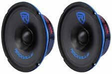 "(2) Rockville RM64SP CEA Compliant 6.5"" 240W Mid-Range Car Speakers 4 Ohm"