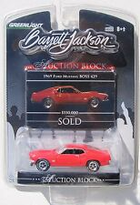 GREENLIGHT AUCTION BLOCK S2 1969 FORD MUSTANG BOSS 429 RARE 820-S NASCAR ENGINE