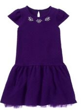 Gymboree Girls Plum Party Purple Dressy Dress with Gems Girl Holiday Size 7 NWt