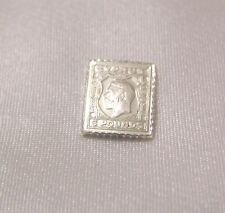 SOLID SILVER STAMP CYPRUS 1924 1928 KING GEORGE V FIVE-POUND