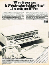 PUBLICITE ADVERTISING 035  1971  3M MINNESOTA  le photocopieur DRY-PHOTO COPIER