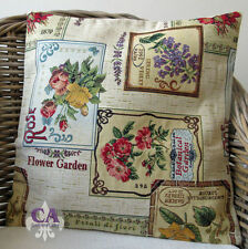 #10547 Kissen Kissenhülle 40x40 Rosen Veilchen Blumen Garten Gobelin Landhaus