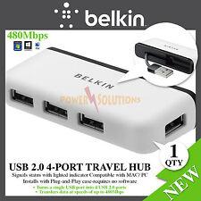 Belkin USB 2.0 4-PORT TRAVEL HUB F4U021bt Brand NEW None Powered HUB