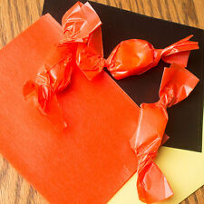 "Wax Candy Wrappers -for caramels & taffy -  Orange 4""x5"", 100 sheets"