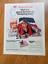 1972 Sunshine Hydrox Cookies Ad Take it Camping Boating Pajama Parties