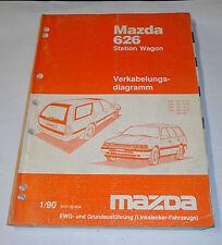 Werkstatthandbuch Mazda 626 Station Wagon Typ GD/GV Elektrik / Schaltpläne, 1990