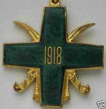 Russian CROSS MEDAL for FREEDOM of SIBERIA, GREEN with SWORDS, 1918