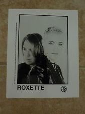 Roxette 90's 8x10 B&W Publicity Picture Promo Photo