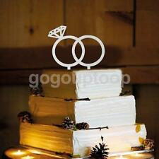 DIAMOND RING SHAPE CAKE TOPPER CAKE DECOR STAND WEDDING ENGAGEMENT FAVOUR