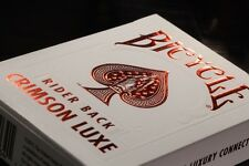 1 DECK Bicycle Metalluxe Crimson Luxe (red) playing cards