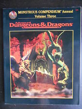"Manuel ""AD&D - Monstrous compendium annual volume three"""
