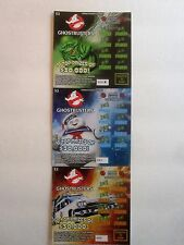 Ghost Busters SV Instant Lottery Tickets Set of 3 different