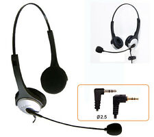2.5mm Headset fit AT&T Polycom 220 225 320 321 Panasonic KT-TG Cisco 501 922 942