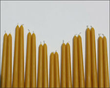 "4 -10"" 100% PURE BEESWAX TAPER CANDLES NO ADDITIVES"