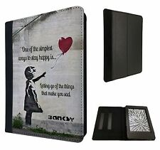 Banksy Grafitti Balloon Girl Quote Case Flip cover For Kindle Paperwhite 6''