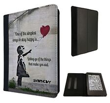 Grafitti BANKSY Balloon Girl preventivo Custodia Flip Cover per Kindle Paperwhite 6""
