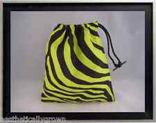 Gymnastics Leotard Grip Bags / Lime Green Zebra Gymnasts Birthday Goody Bag