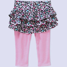 NEW  Baby Girls Garanimals Animal Print Ruffle Tier Skeggings Leggings Size 6-9M