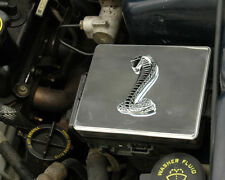 1998-2004 Mustang Polished Stainless Steel Fuse Box Cover w/ Black Cobra Emblem!