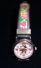 Disney Store Girls Women's Minnie Mickey Mouse Watch Flower Strap