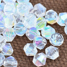100pcs white ab exquisite Glass Crystal 4mm #5301 Bicone Beads loose beads 4#