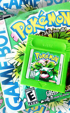POKEMON GREEN BOXED ENGLISH CUSTOM GAMEBOY COLOUR GBA GAMEBOY ADVANCE WITH BOX