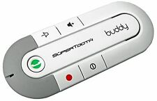 Supertooth Buddy Bluetooth Handsfree In-Car Visor Speakerphone Car Kit - White