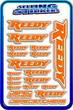 REEDY RC STICKERS DRIFT TOURING MOTOR ESC BATTERY 1/12 1/10 RACE ORANGE WHITE AE