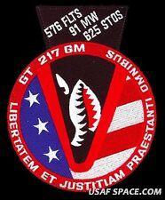 USAF 576th FLIGHT TEST SQ -GLORY TRIP 217GM -Minuteman III- VAFB ORIGINAL PATCH