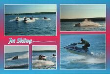 Jet Skiing on the Great Lakes, Michigan, Watersport, Ski MI, Lake -- Postcard