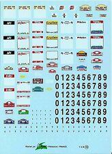 Decalbogen Startnummenfelder Rallye 1997 -1:43 (143)
