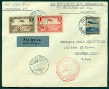 Luxembourg Germany Combination Franking 1936 1st No. American flight zepp cover