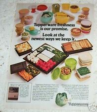 1980 ad page - Tupperware food containers VINTAGE 1-PAGE print advertising