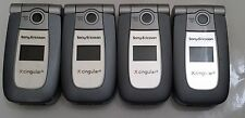 Lot of 4 Sony Ericcson Z500a Cingular  Cell Phones All Power Up