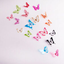 18 pcs 3D Butterfly Decor Fashion Door Decals Crystal Wall Stickers Festival j