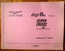 GUZZI DINGO SUPER CROSS GT CATALOGO PARTI DI RICAMBIO