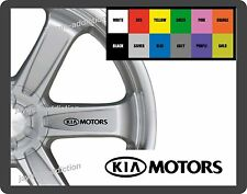 For KIA MOTORS - 8 x Alloy Wheel - CAR DECAL STICKERS - 95mm long
