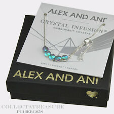 Authentic Alex and Ani Crystal Infusion Galaxy Swarovski Silver Bracelet