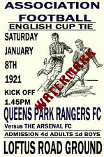 QUEENS PARK RANGERS - VINTAGE 1920's STYLE MATCH POSTER
