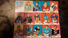 1969 TOPPS FOOTBALL CARDS GROUP LOT OF 15 GREAT SHAPE,SEE PICTURES GOOD PLAYERS